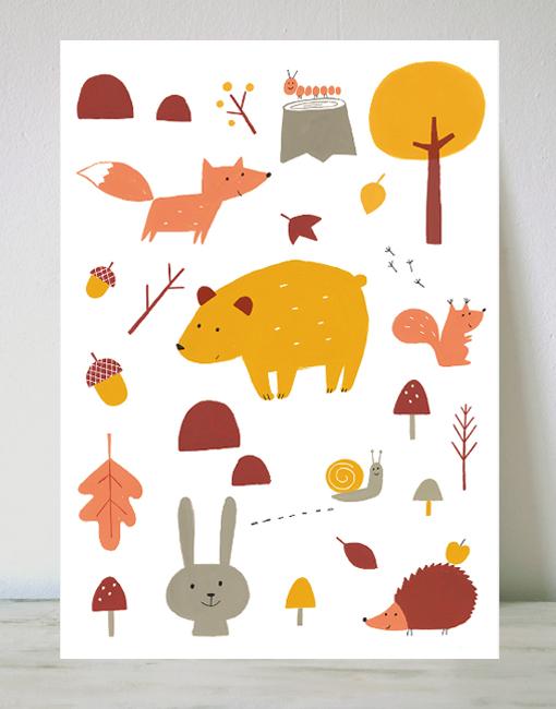 cuadro animales ekaterina trukhan Algunas de mis láminas favoritas en Menudos Cuadros