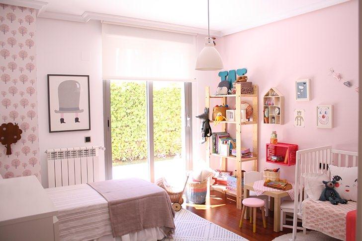 cuarto de claudia decoandliving 3 Preciosa habitación infantil compartida para Claudia y Olivia