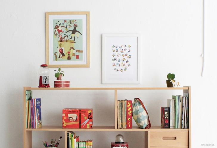 estanteria nobodinoz abc plunge 2 zoom 1 Más de 150 láminas y cuadros infantiles exclusivos en Menudos Cuadros