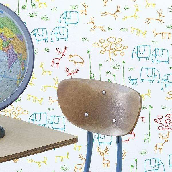 papeles pintados infantiles chispum 6 Novedades de Chispum: wallpapers reposicionables