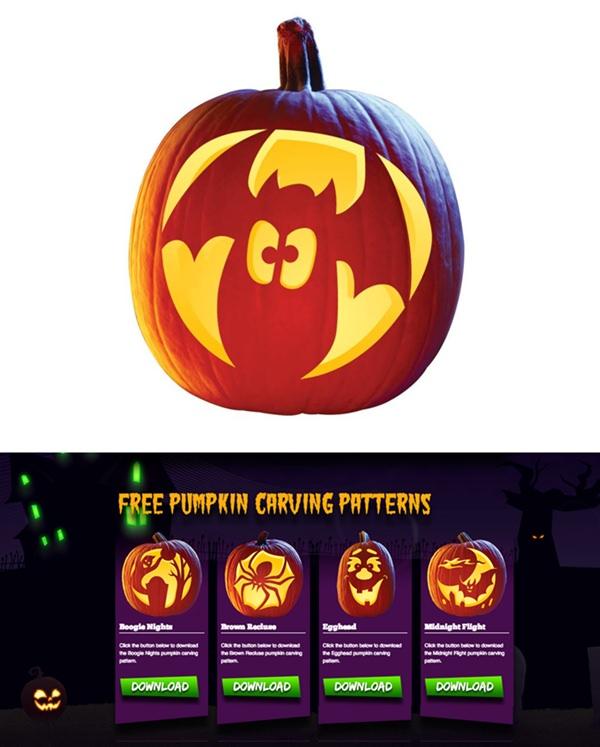 Ideas y plantillas gratis para decorar las calabazas de Halloween