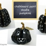 Calabazas decoradas con chalk paint