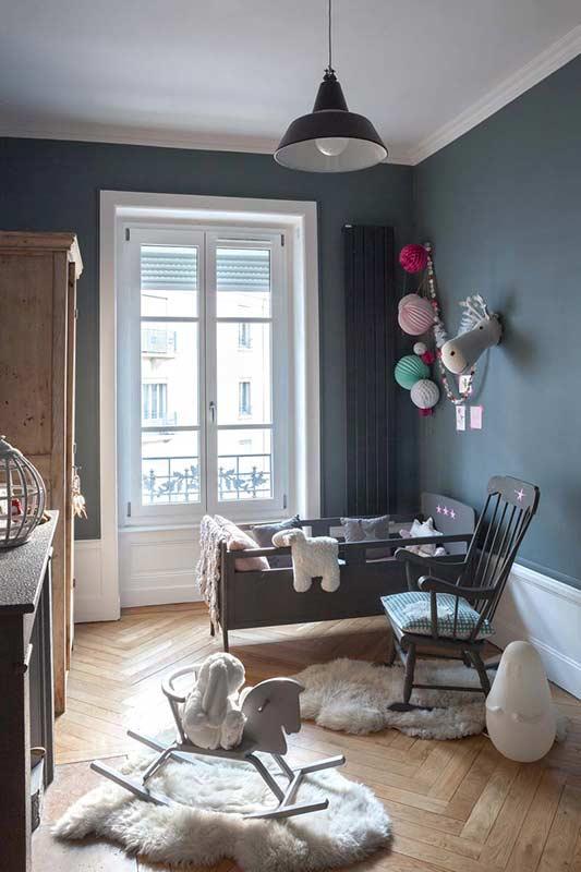 10 dormitorios infantiles ideales en tonos grises decopeques for Dormitorio gris