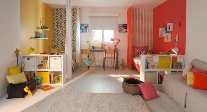 6 ideas originales para decorar las paredes del dormitorio - Habitaciones infantiles compartidas ...