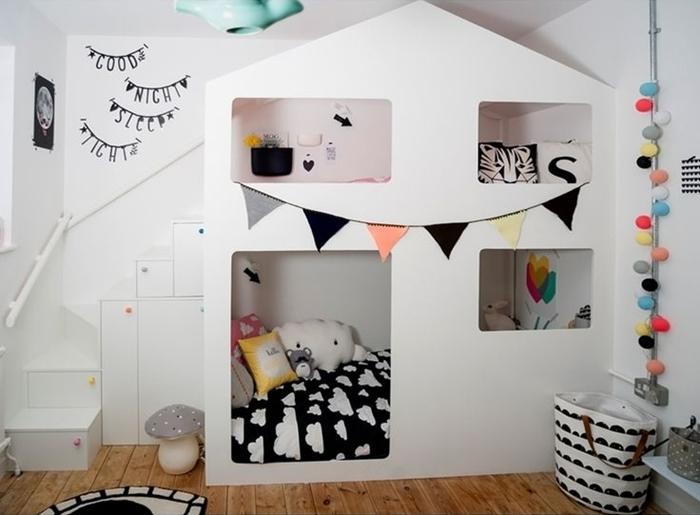 5 habitaciones blancas con pinceladas de color