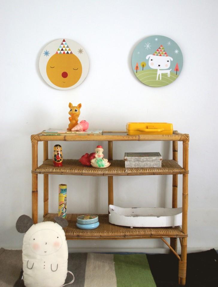 cuadros infantiles redondos 728x955 Divertidos Cuadros Redondos para Niños