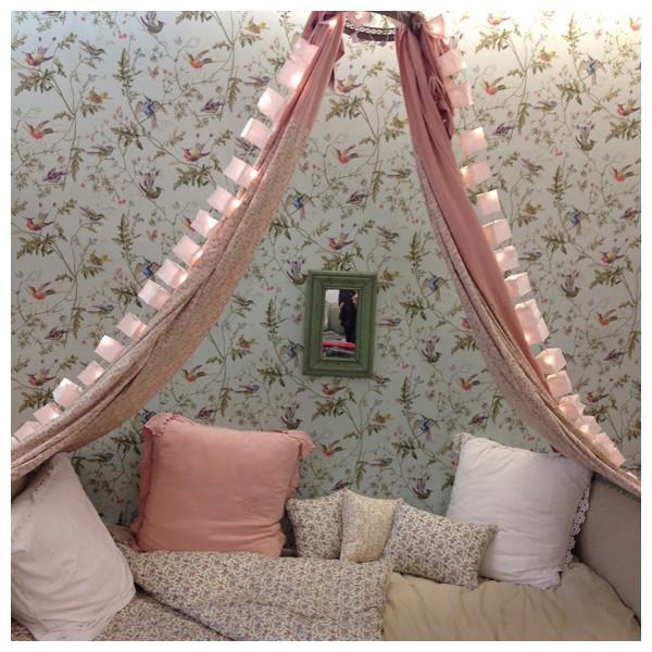 dosel rosa niñas decoracion 7 Dormitorios ideales para Niñas