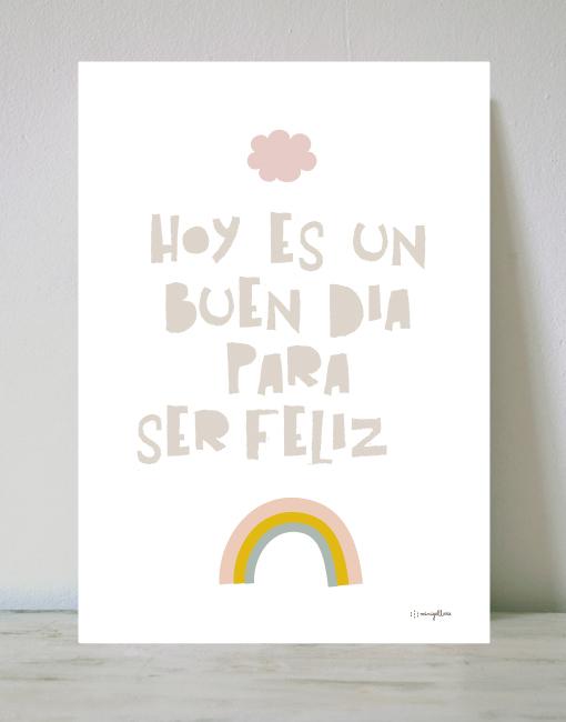 lamina mensaje feliz Láminas para niños con mensajes positivos