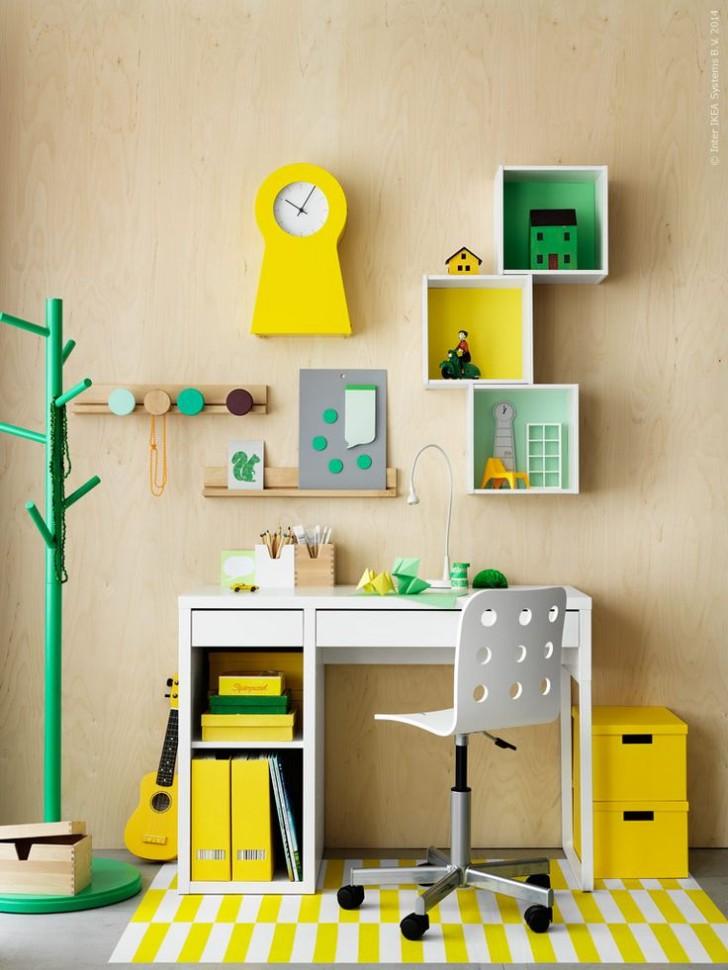 Escritorios infantiles con la mesa micke de ikea decopeques - Mesas escritorio para ninos ...