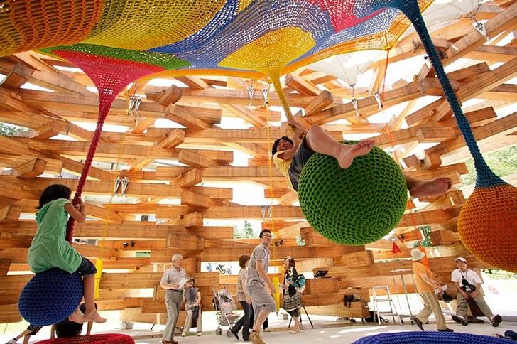 parque infantil de crochet 1 Un parque infantil súper divertido ¡creado en crochet!