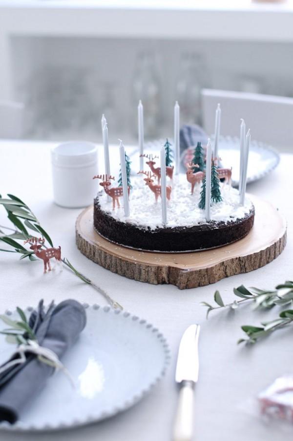 tarta decorada navidad 600x902 7 Tartas de Navidad para Niños