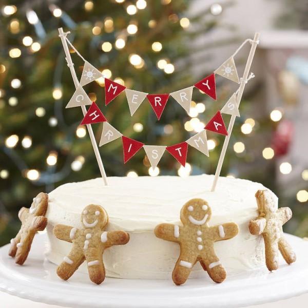 tarta infantil navidad 600x600 7 Tartas de Navidad para Niños