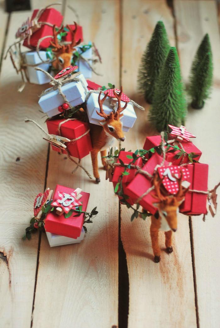 calendario adviento baballa reno 10 Ideas de decoración navideña con niños en casa
