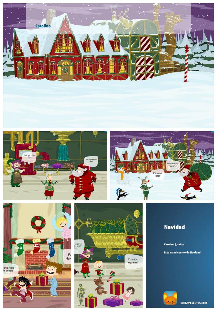 App para que los niños creen e impriman sus propios cuentos. ¡Vaya regalo para los abuelos!