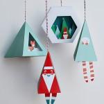 Decoraciones navideñas DIY con imprimibles