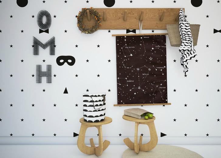 papel-pintado-estrellas-negras