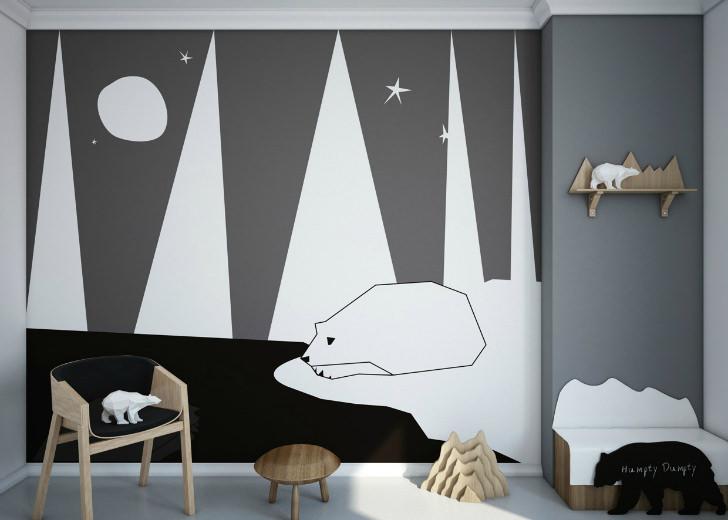 Papeles pintados originales para un cuarto infantil