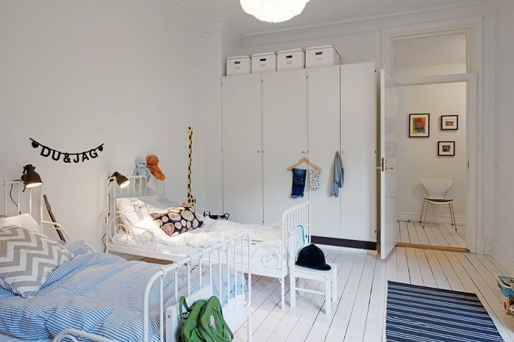 Habitaci n compartida para dos hermanos decopeques for Dormitorio estilo nordico ikea