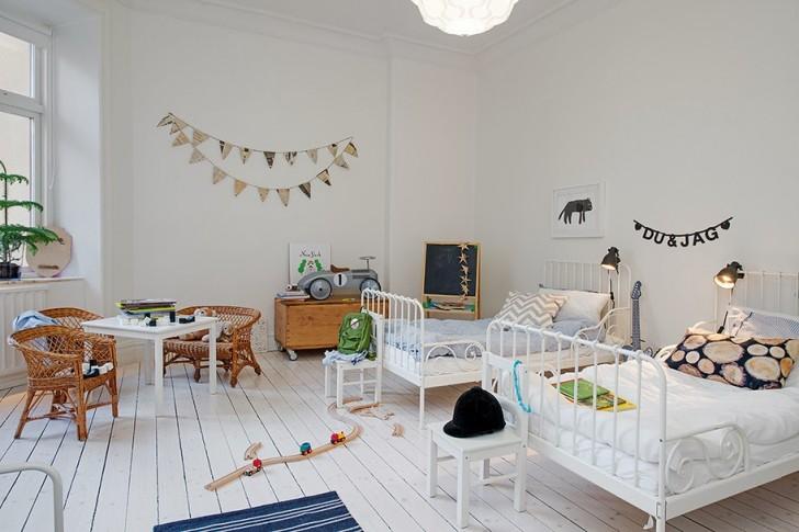 Habitaci n compartida para dos hermanos decopeques for Habitaciones de bebe estilo nordico