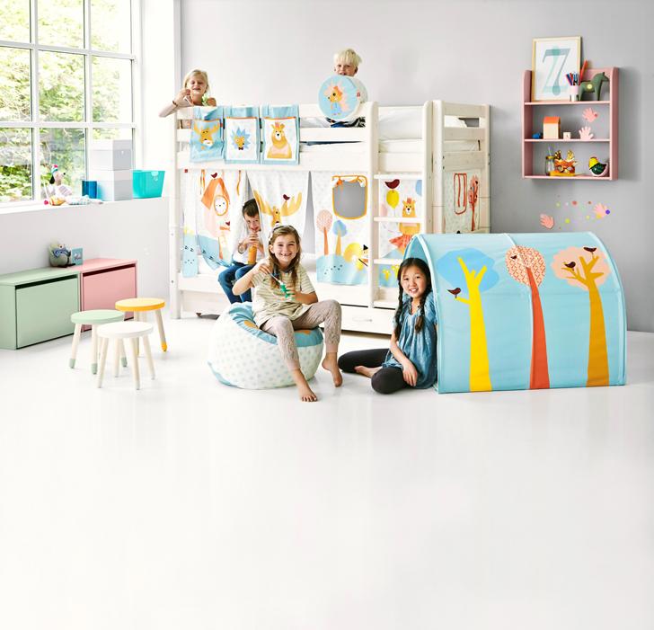 Flexa forest textiles infantiles inspirados en el bosque for Dormitorio infantil bosque