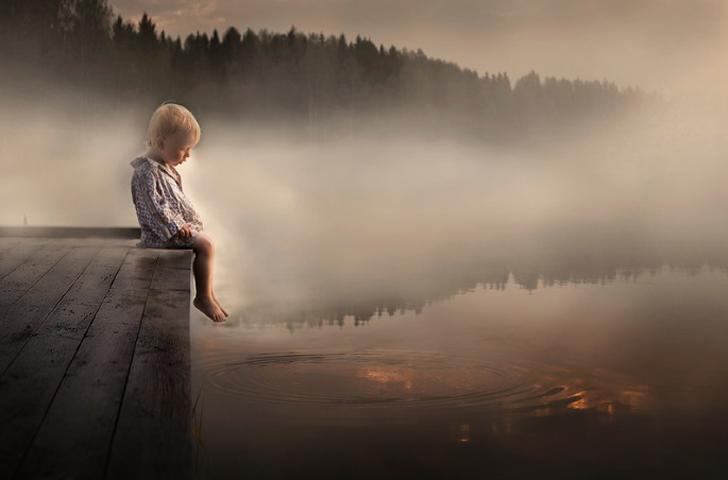 fotos-de-niños-lago