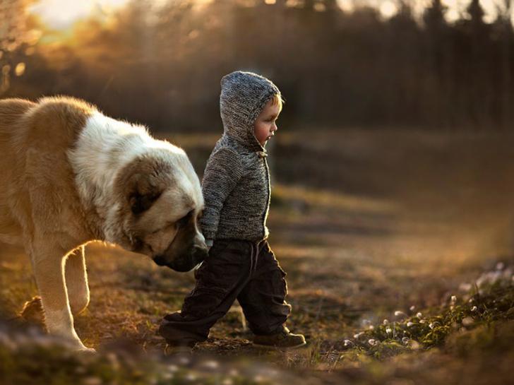 fotos-de-niños-perro