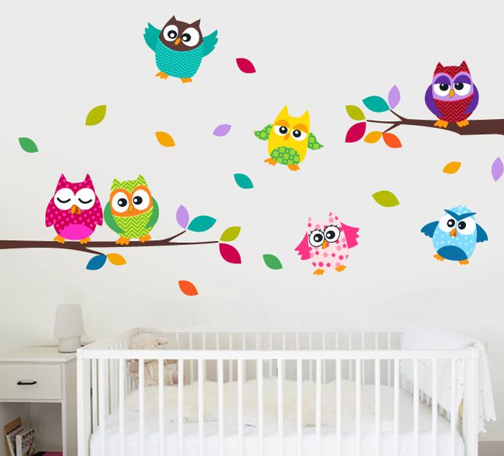 Imagenes infantiles buhos imagui - Dibujos para paredes infantiles ...