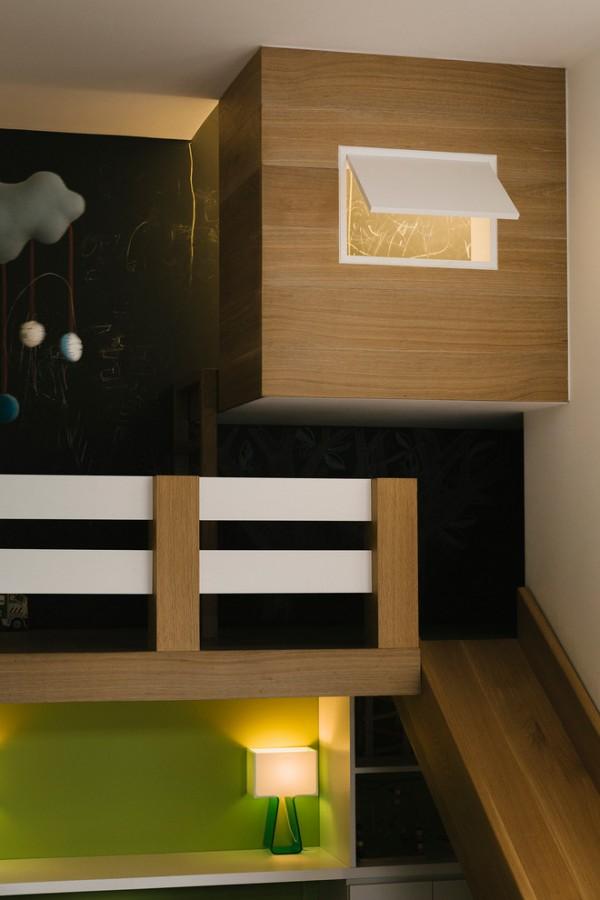 Dormitorio infantil de dise o con tobog n decopeques - Diseno de dormitorios infantiles ...