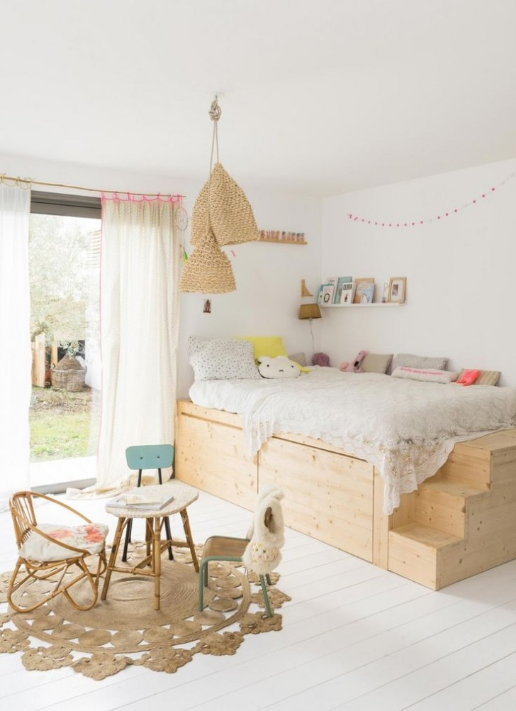 dormitorio-madera-niños