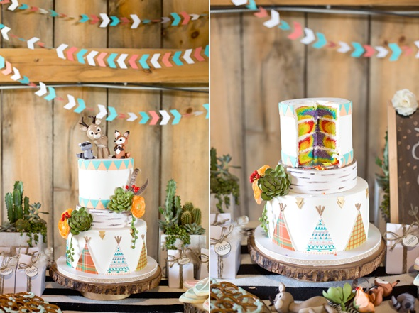 oda a la naturaleza fiesta de cumpleaños salvaje tarta