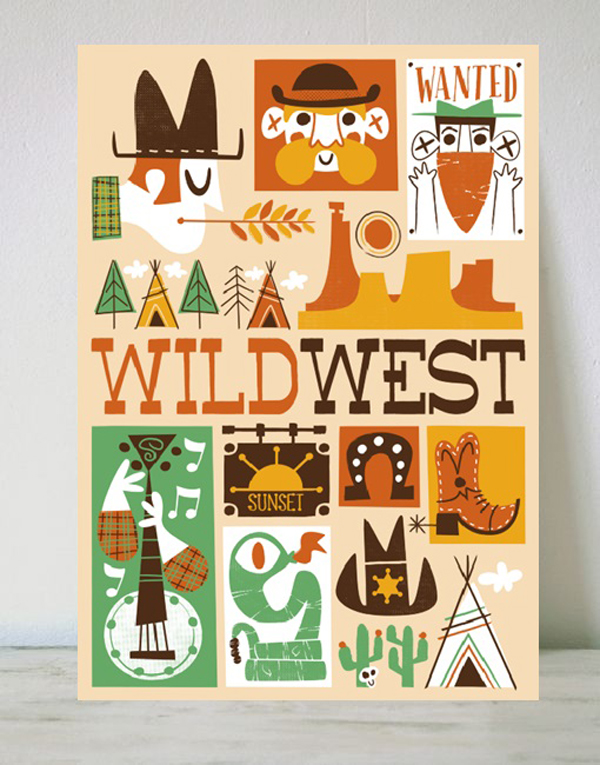 laminas-infantiles-pintachan-salvaje-oeste