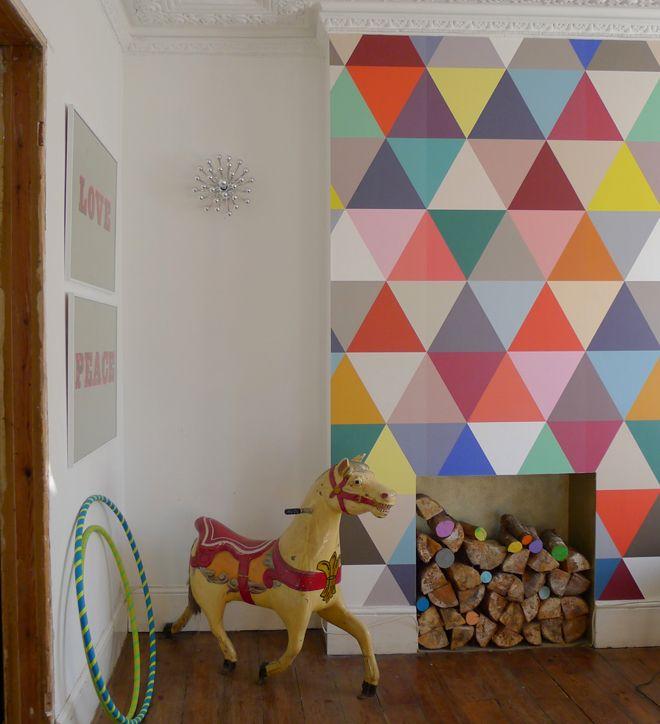 paredes triangulos colores