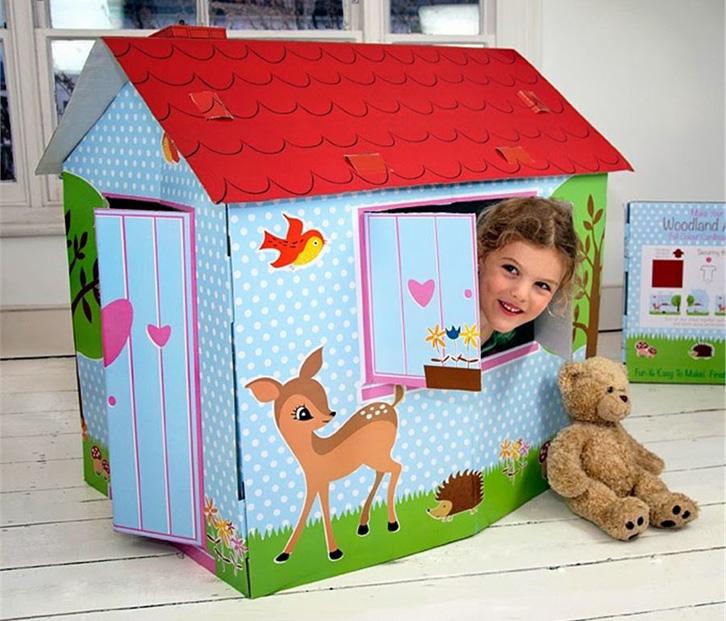 kidshome-casita-de-carton-woodland-animals