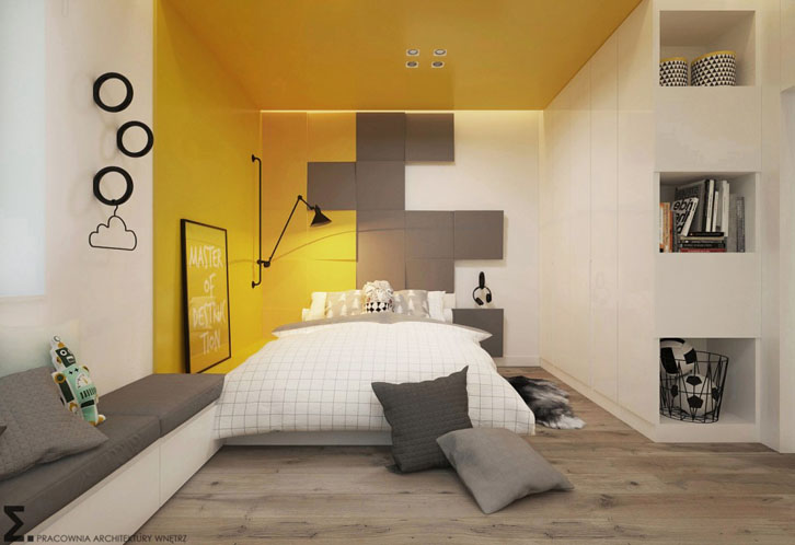 habitacion-juvenil-escandinava-tonos-amarillos