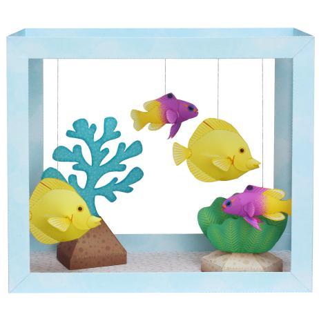 peces-amarillos-pecera-papel