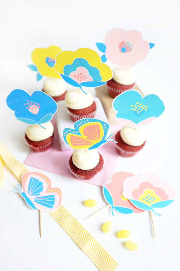 flores-papel-cupcakes