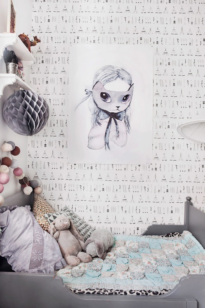habitacion-infantil-vintage-papel-pintado-tipis