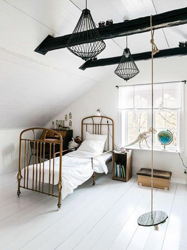 cama-de-forja-habitacion-escandinava