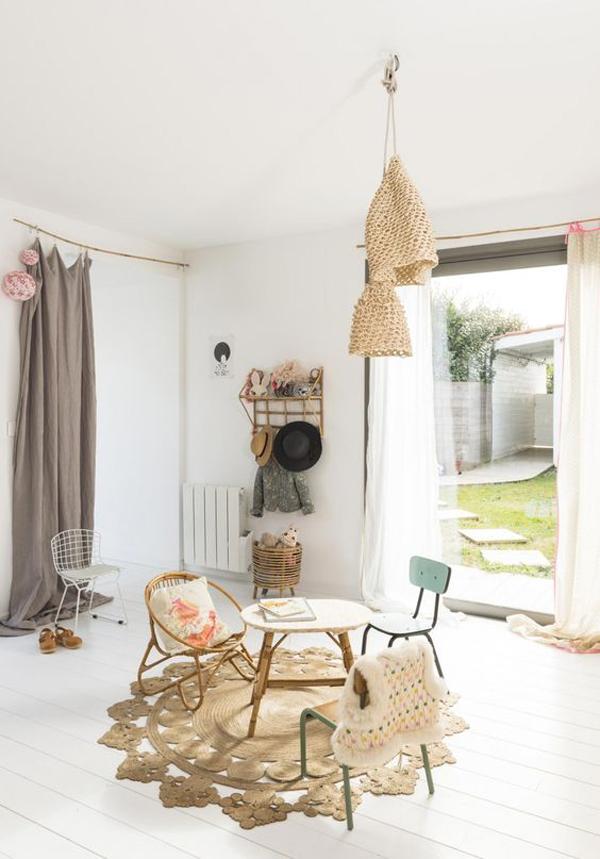 habitacion-infantil-estilo-boho-materiales-naturales