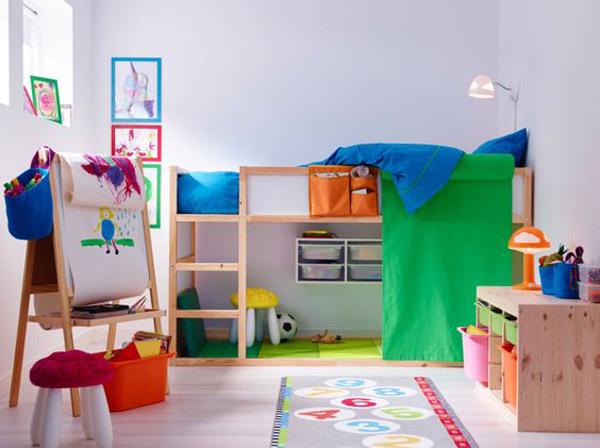 habitacion-infantil-con-litera-de-ikea
