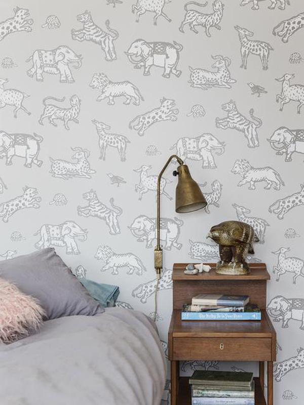 papel-pintado-gris-animales