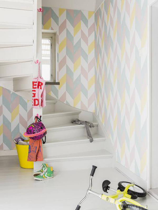 papel-pintado-tonos-pastel-geometrico
