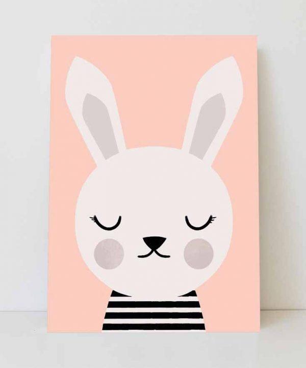 lamina-infantil-nordica-conejo