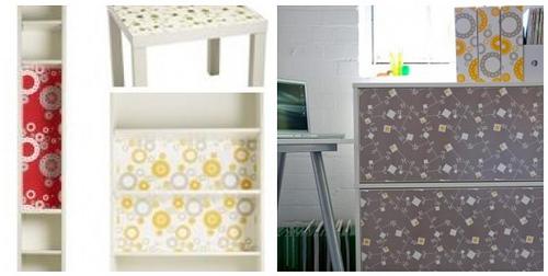 Diy hackear los muebles de ikea decopeques - Papel adhesivo para muebles ...
