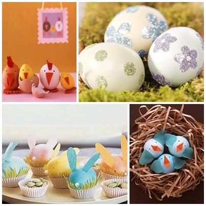 Ideas para hacer con niños: Decorando huevos de Pascua