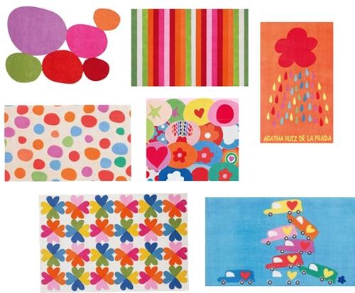 Nuevas alfombras infantiles de Agatha Ruiz de la Prada