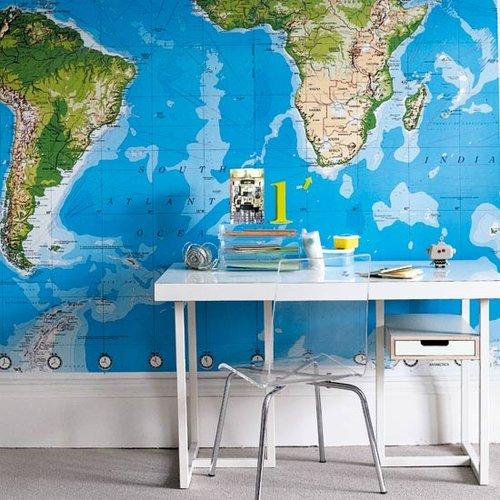 Ambientes que inspiran: Decorando con mapas