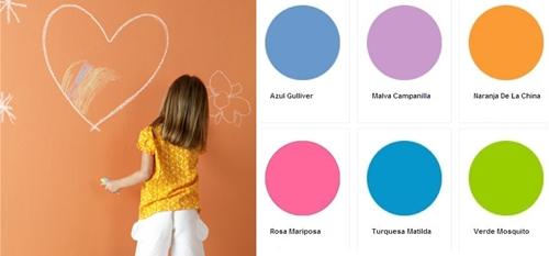 Cuarto color pintura de pizarra y m s decopeques - Nombres de colores de pinturas ...