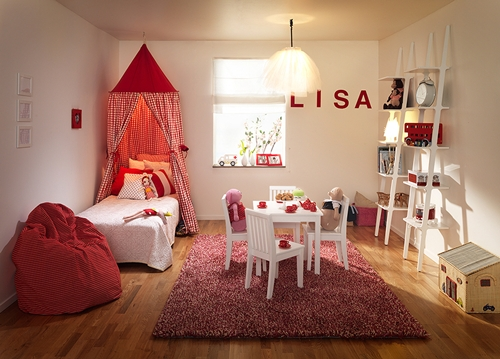 Ambientes que inspiran habitaciones infantiles en rojo y for Iluminacion habitacion bebe