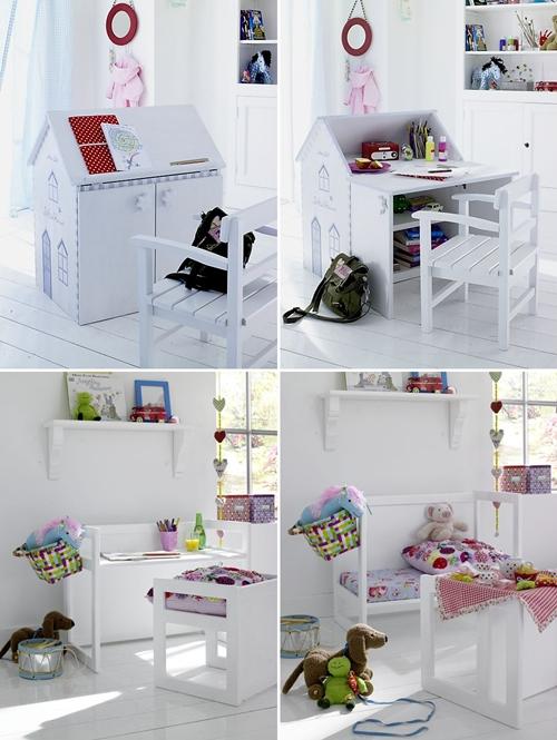 y mas muebles infantiles prcticos la casita es un atril una pizarra un escritorio y un armario para juguetes en un mismo lugar en las fotos de debajo